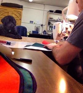 Vasco supervises some Custom work