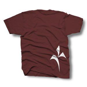 Kinetik Logo Shirt – Maroon and White